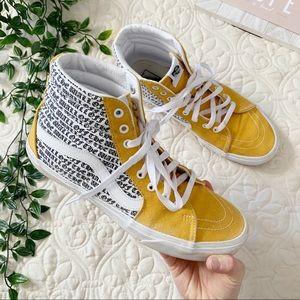Men's Vans Sk8 High Yellow White Sneakers